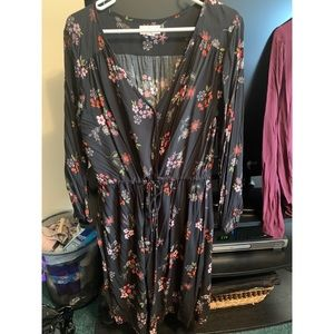 Black Floral Dress by Velvet Size XL